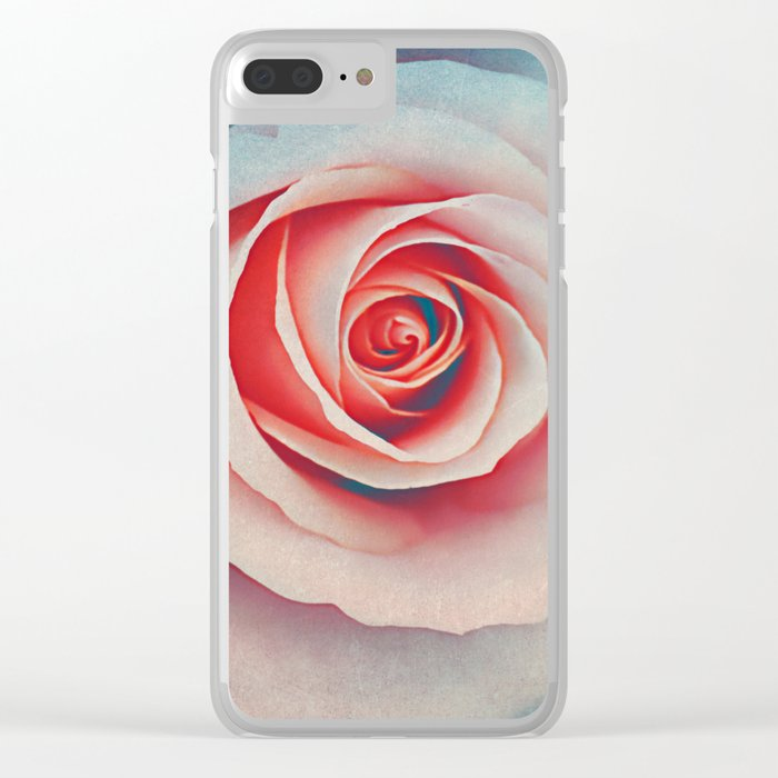 Romantic rose(7). Clear iPhone Case