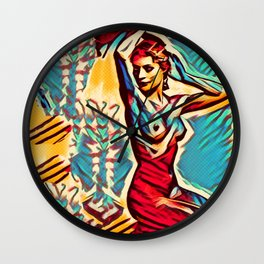 Away From The Past Wall Clock