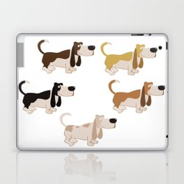 Basset Hound Colors Illustration Laptop & iPad Skin