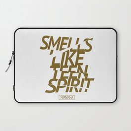 Smells Like Teen Spirit #gold #broken Laptop Sleeve