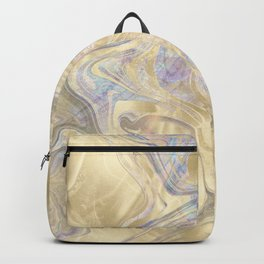 Marble Paint Swirl Trendy Abstract Glitter Gold Teal RoseGold Pink Backpack