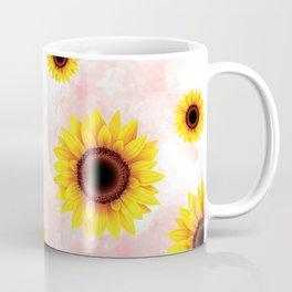 Sunflower Pattern on light pink background Coffee Mug