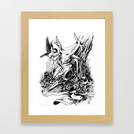 the things we covet will tie us down Framed Art Print