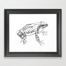 Little frog Framed Art Print