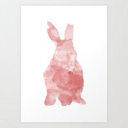 Watercolour Bunny Art Print