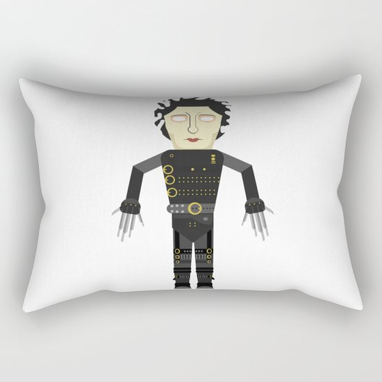 Vector Edward Hand scissors Rectangular Pillow