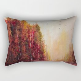 Forgotten Acrylic Autumn Painting Rectangular Pillow