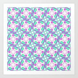 Cool Mint Kiss Bubble Gum Pink Simple Abstract Mint Candy Spirit Organic Art Print
