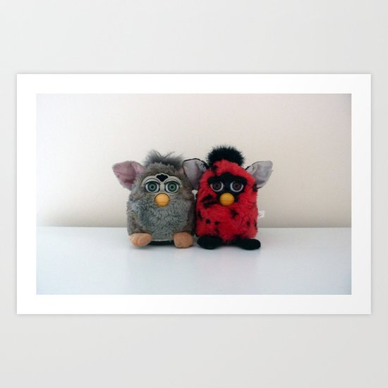One Furby or two? Art Print