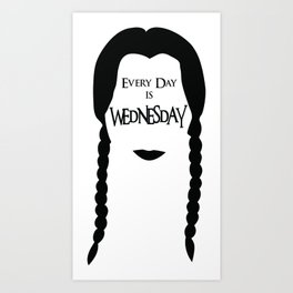Wednesday Addams is my Spirit Animal Art Print