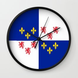 historic flag of picardie Wall Clock