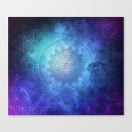 Abstract Flower of life Space Tapestry Canvas Print