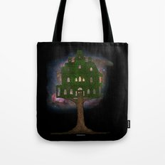 Cosmos Tree House Tote Bag
