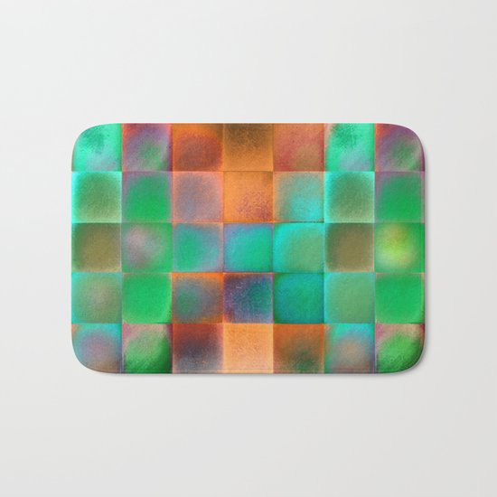 CHECKED DESIGN II Bath Mat