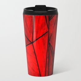 Modern Abstract Triangle Pattern Travel Mug