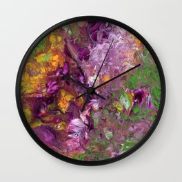 Abstract Floral Acrylic Painting Wall Clock