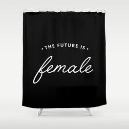 A Female Future Shower Curtain