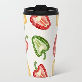 Mixed Peppers Pattern Travel Mug