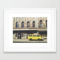 yellow submarine Framed Art Prints featuring Yellow submarine by monicamarcov