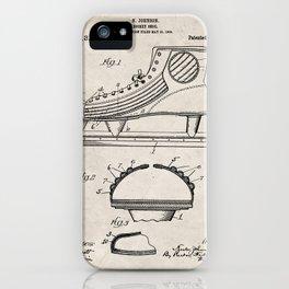 Ice Hockey Skates Patent - Ice Skates Art - Antique iPhone Case