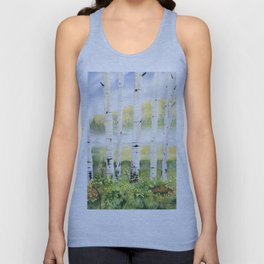 Behind The Birch Trees Unisex Tank Top