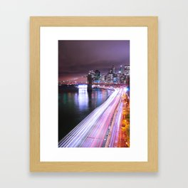 City Lights Highway Framed Art Print