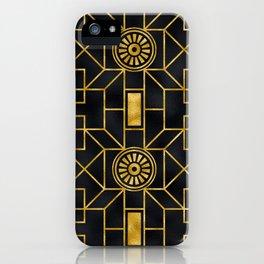 24-Karat Elegant Gold and Black Art Deco Design iPhone Case