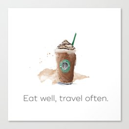 Eat well, travel often. Scandy cup Canvas Print