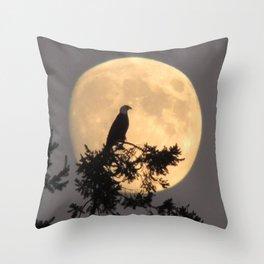Lunar Eagle Throw Pillow