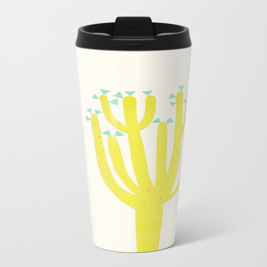 Modern Cactus Metal Travel Mug
