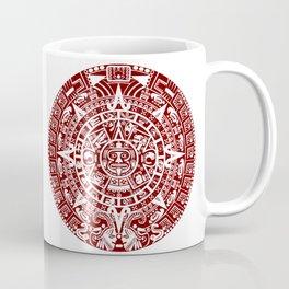Mayan Calendar // Burgundy Coffee Mug