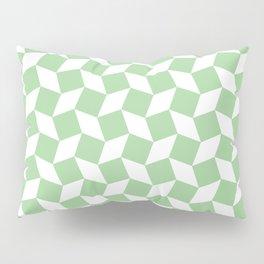 Mint Op Art Pattern Pillow Sham