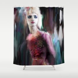 Caught in the Night Shower Curtain