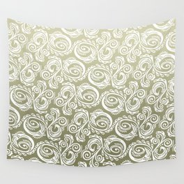 Scandinavian Peacock ~ Gold 03 Wall Tapestry