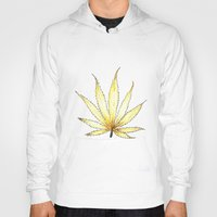 cannabis Hoodies featuring Golden Cannabis by  Can Encin
