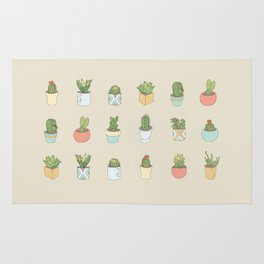 Cute Succulents Rug