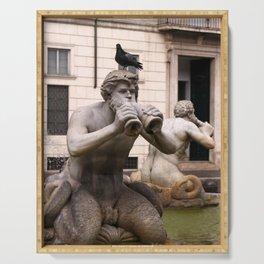 Triton Statue Serving Tray