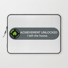 """ACHIEVEMENT UNLOCKED: I left the House"" Funny Quote Laptop Sleeve"