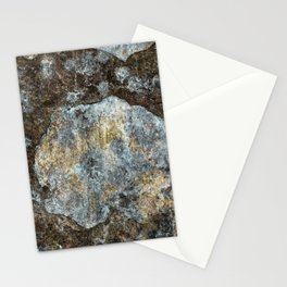 Old stone wall with copper tones Stationery Cards