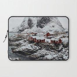 Mountain Village In Norway Laptop Sleeve