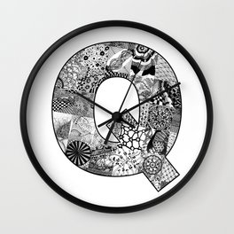 Cutout Letter Q Wall Clock