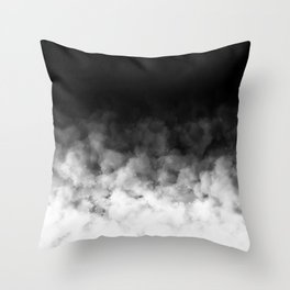 Ombre Black White Clouds Minimal Throw Pillow