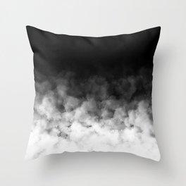 Ombre Black White Minimal Throw Pillow