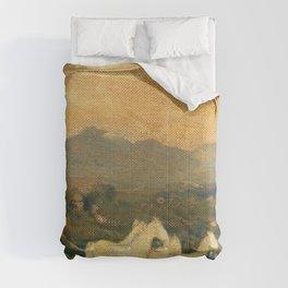 Horses Of Attica - Arthur Bowen Davies Comforters