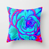 neon Throw Pillows featuring Neon by Dawn East Sider