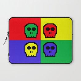 8-bit Four Color Skulls - Pixel Art Laptop Sleeve