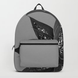 Gray Black Agave with Black Silver Glitter #3 #shiny #tropical #decor #art #society6 Backpack