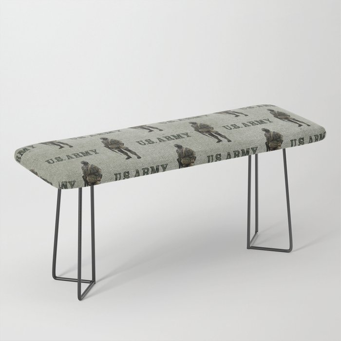 US Army Green Soldier Bench
