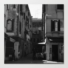 Calle Marcello b&w Canvas Print
