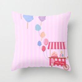 Cotton Candy Shop Throw Pillow